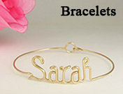 Personalized Gold Name Bracelets