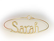 Gold Personalized Bracelets wire Jewelry