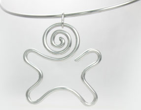 Little Guy silver Pendant, 2 x 2 inches