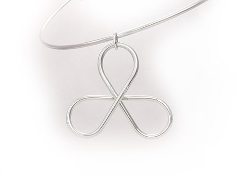 Shamrock Clover Pendant, 2 x 1.75 inches