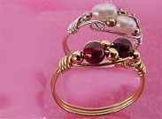 Elaborate Ring- Gold wire Silver Ring Jewelry Ring