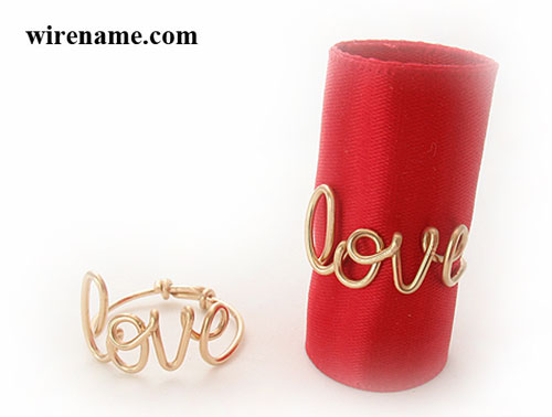 personalized love ring handmade