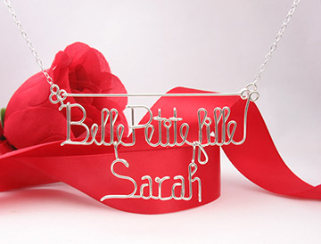 Silver or Gold 4 Words Necklace