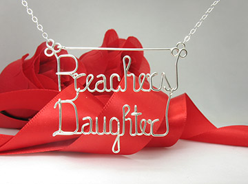 Two names silver necklace