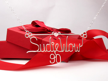 personalized name necklace Wire Jewelry - 90 charm