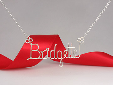 personalized name necklace Wire Jewelry