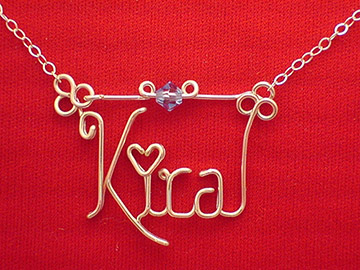 personalized name necklace - Dot as a Heart