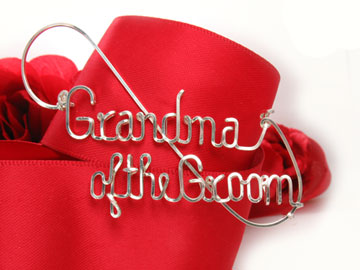 personalized name pin in silver wire
