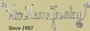 Gold and silver Wire Name Personalized Custom Jewelry