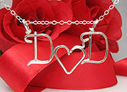 Initial Personalized wire Jewelry Necklace
