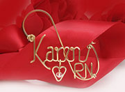 Gold Personalized wire Pin Jewelry Brooch RN